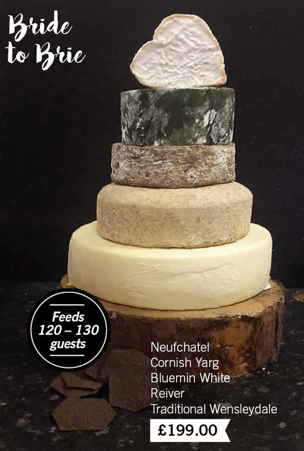 Bride to Brie Cheese Wedding Cake