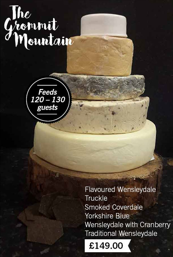 The Grommit Mountain Cheese Wedding Cake