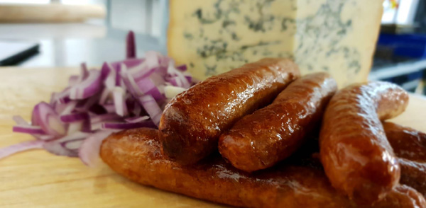 Stilton and Red Onion Sausage
