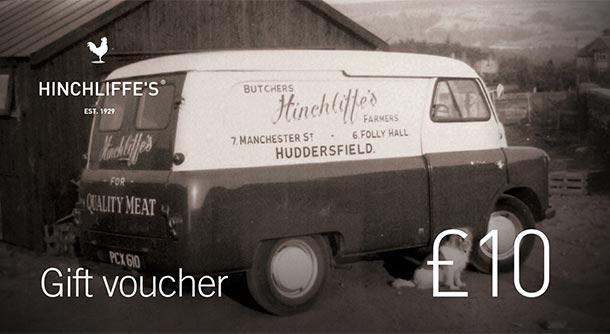 Hinchliffe's £10 Gift Voucher