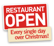 Restaurant open all throughout Christmas