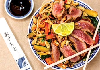 Yorkshire Steak Strips with Borrowby Honey Marinade and Crispy Veg Stir-fry