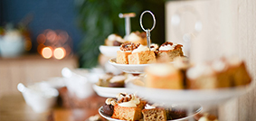 FESTIVE AFTERNOON TEA Enjoys Hinchliffe's festive afternoon tea menu. Available Throughout December!