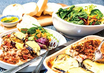 Lamb Moussaka & Summer Time Salad