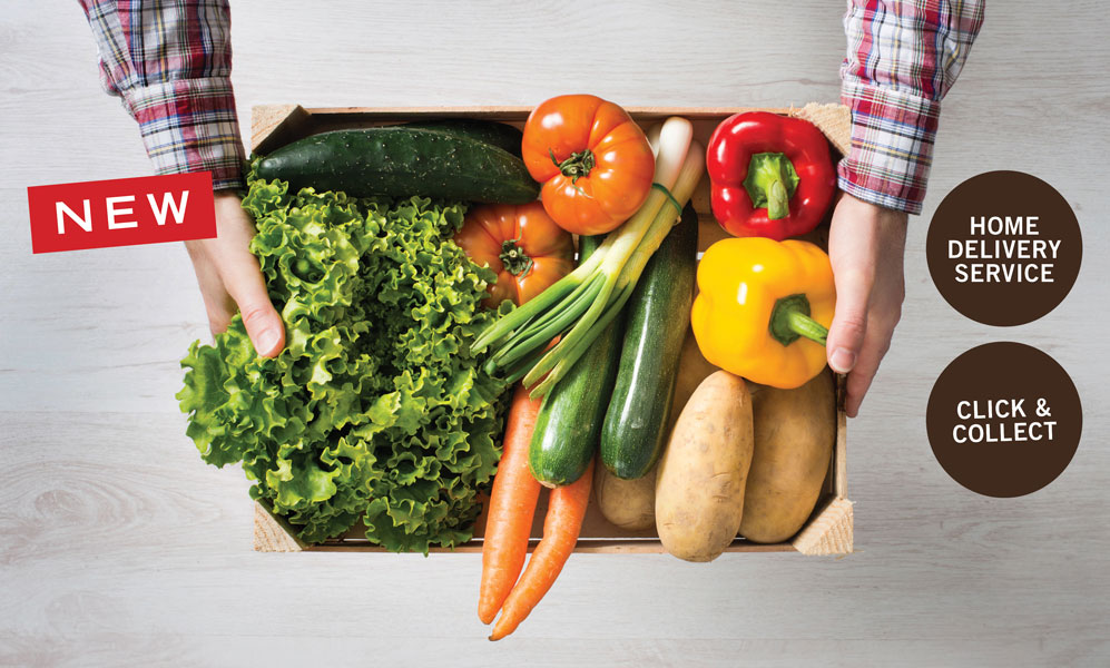 Fruit, Veg & Salad Boxes Introducing three types of food boxes from Hinchliffe's - packed full of all your favourites. Not only are they quick and easy, you'll also save yourself 10% on each box!